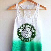 The Little Mermaid Starbucks Tie Dye Tank Top
