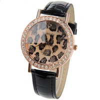 Timeless Classic Leopard Print Dazzling Watch