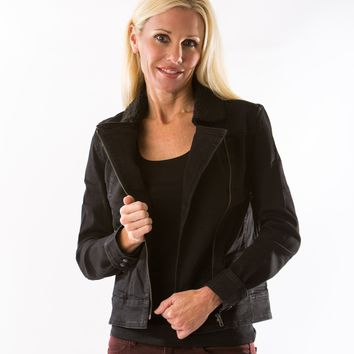 Moto Jacket in Washed Black by Articles of Society