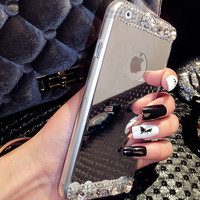 Luxury Diamonds Mirror Case Cover for iPhone 5s 6 6s Plus Gift 248