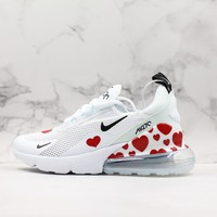 Nike Air Max 270 Red Heart White Red Black Running Shoes - Best Deal Online