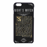 Game Of Thrones Nights Watch iPhone 6 Case