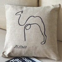Camel Print Decorative Pillow [073] : Cozyhere