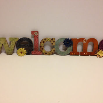 Welcome Sign Wall Hanging
