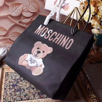Moschino Teddy Beer Leather Tote Bag #42391 - Best Deal Online