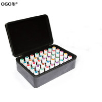 Essential Oil Carrying Case For 12 Bottles 15ML 60 Bottles 2 ML Oil Storage Box Traveling Sturdy Double Zipper Hard Shell