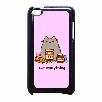 Pusheen Eat Everything FOR IPOD TOUCH 4 CASE *PS*