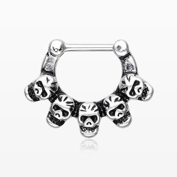 Death Skulls Quinary Septum Clicker