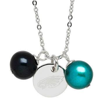 "Honora Officially Licensed NFL ""Philadelphia Eagles"" Freshwater Cultured Ringed Pearl Pendant"