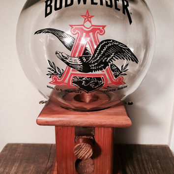 Vintage Budweiser Glass Globe Dispenser