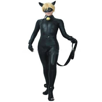 Kids Boy Miraculous Ladybug Costume Cat Noir with Mask Ladybug Cat Cosplay Costume With Mask And Ear