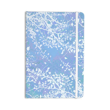 "Iris Lehnhardt ""Twigs Silhouette Pastel Blue"" Cold Everything Notebook"