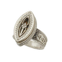 Etched Mystical Ring - Silver