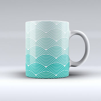 The Beach Hotel Wallpaper Waves ink-Fuzed Ceramic Coffee Mug