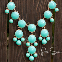 J Crew Bubble Necklace Inspired  Aqua Bubble by PureStunning