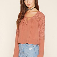 Floral Lace Gauze Top