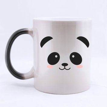 Panda Mug Coffee Mugs Heat Sensitive Morph Mugs Transforming Cup Cold Hot Heat Changing Color Magic Mug Tea Cups