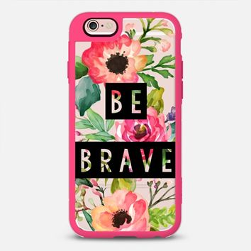 Change Your iPhone Case Every Day | Casetify iPhone Case | Be Brave Watercolor Floral Design  (iPhone 6, 6s, 6 Plus, 6s Plus, 7)