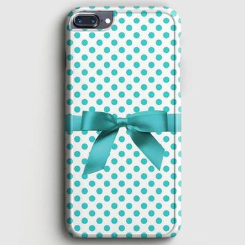 Blue Tiffany Polkadot Ribbon iPhone 7 Plus Case