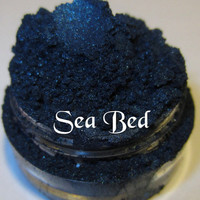 Sea Bed Dark Blue Shimmer Mineral Eyeshadow Mica Pigment 5 Grams Lumikki Cosmetics