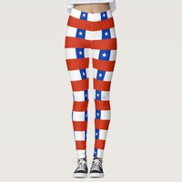 Leggings with flag of Chile