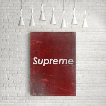 RED SUPREME ARTWORK POSTERS