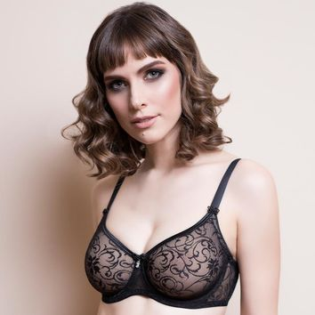 PLUS SIZE MOLDED SHEER BRA LAVINIA LAURA (LL0129)