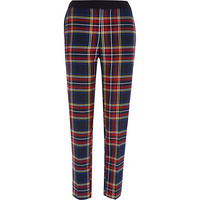 River Island Womens Red plaid check cigarette pants