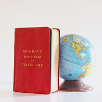 Travel Light - Antique 1909 Travel Book - Foreign Language - Red - Blue - Vacation - Summer - Vintage Book