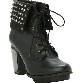 Studded Combat Boot Heel