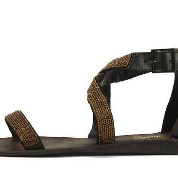 ICIKLP2 Seychelles for Women: Complicated Dark Brown Sandal