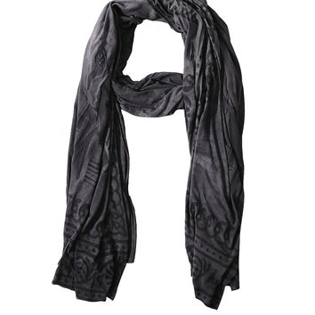 Vignali Wool Eufrate scarf with embroidery