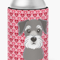 Schnauzer Hearts Can or Bottle Hugger BB5276CC