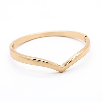 Chevron bangle bracelet