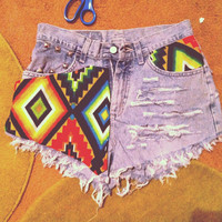 Penelope - Tribal shorts - Distressed