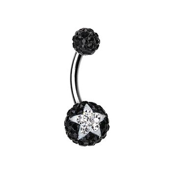 Shining Star Multi-Sprinkle Dot Belly Button Ring
