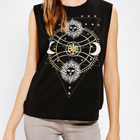 Urban Outfitters - Truly Madly Deeply Celestial Embellished Muscle Tee