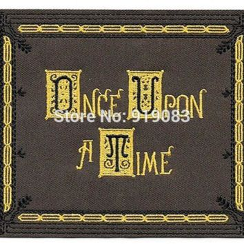 "5.25"" Once Upon A Time TV Series Book Image LARGE Patch tv movie series Embroidered Iron on Badge cosplay Halloween Costume"