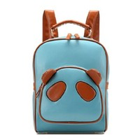 Candy Color Cute Panda Book Computer Bag Backpack Tote