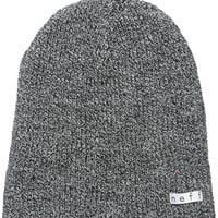 neff Men's Daily Reversible Beanie, Black/White Heather/Maroon, One Size