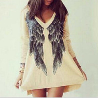 Angel Wings Shirt Dress