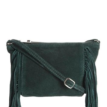 ASOS Suede Fringed Cross Body Bag