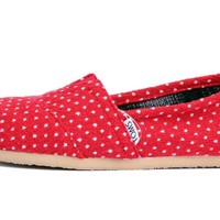 Toms - Womens Red Dot Classic Shoes