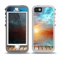 The Paradise Sunset Ocean Dock Skin for the iPhone 5-5s OtterBox Preserver WaterProof Case