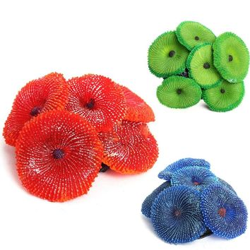 Simulation Silicone Nontoxic Aquarium Artificial Resin Coral Sea Plant Ornament