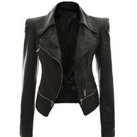 Motorcycle Jacket faux leather