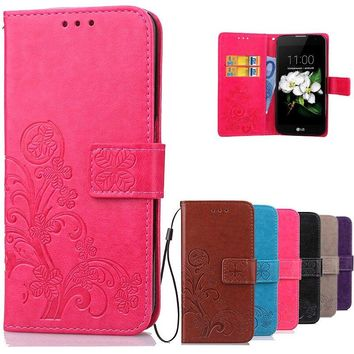 Luxury Leather Case For LG K7 Flip Cover phone Cases Card Slots Stand Cover For LG K7 X210DS X210 Tribute 5 LS675 K 7 LGK7 Cases