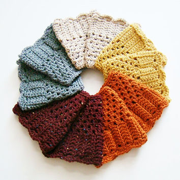 FREE SHIPPING - Crochet, Ruffle, Boot, Cuff - Womens - Choose your color