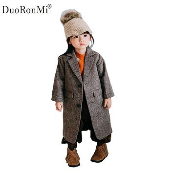 Baby Boy Girl Autumn Winter Woolen Coat New 2017 Baby Girls Wool Blend Jackets Children Outwear Brand Fashion Trench Coat