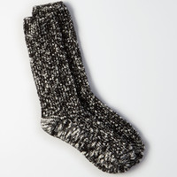 AEO Marled Crew Socks, True Black